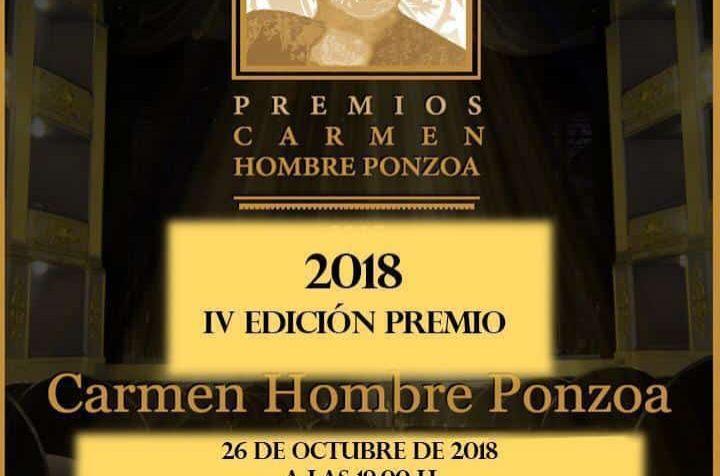 IV EDICIÓN PREMIOS CARMEN HOMBRE PONZOA